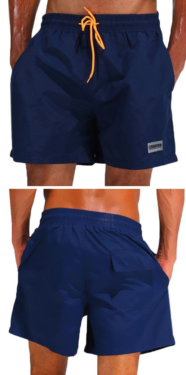 6ff1695f966d1 Mens Sport Shorts: Fashion for Beach / Water Repellent / Drawstring / Loose  / Solid Color
