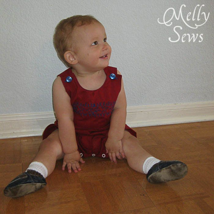 Baby Boy Romper Tutorial with Free PDF Sewing Pattern ...
