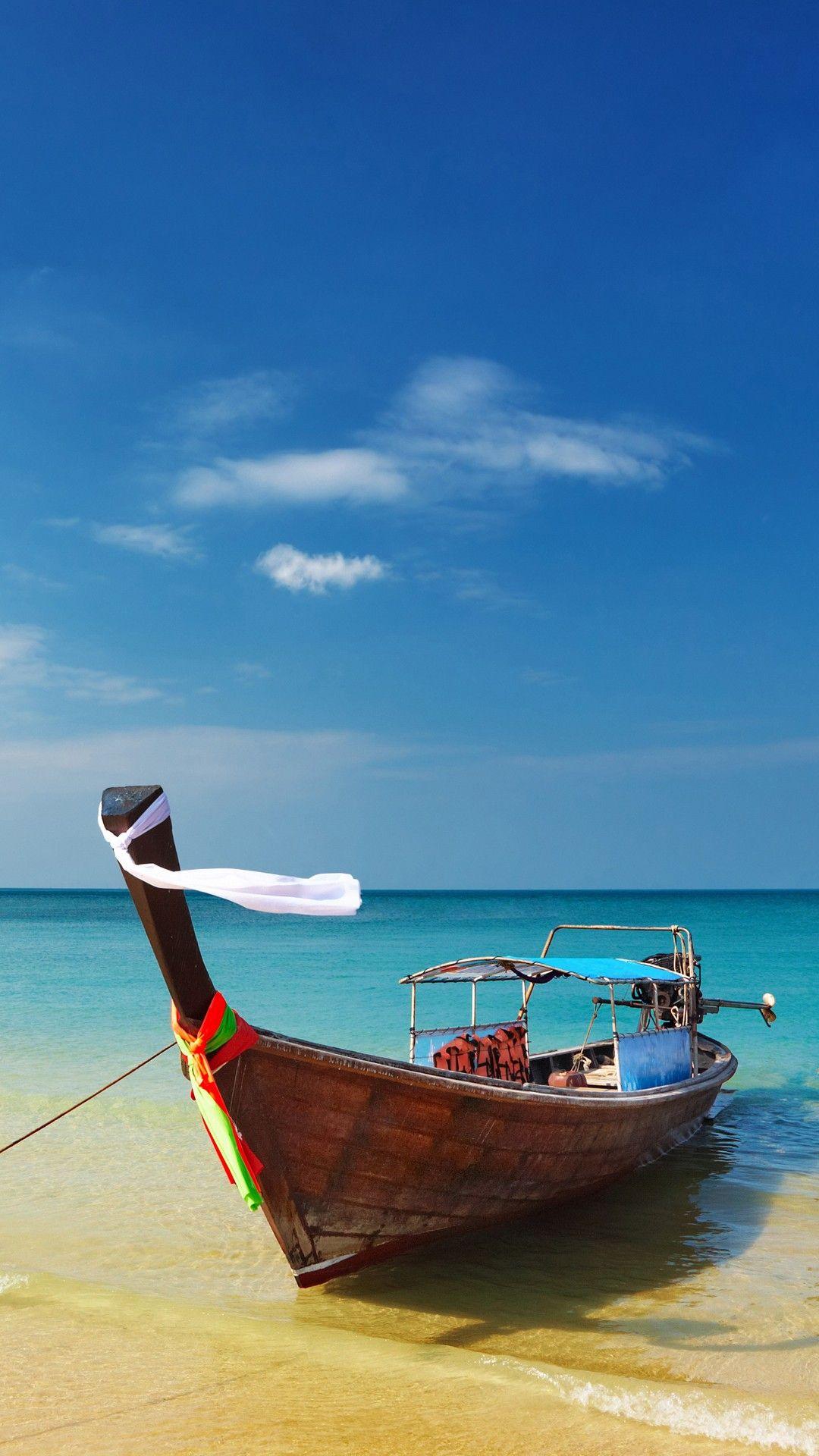 Thailand Beach Shore Boat Smartphone Wallpaper Hd Check More At Https Phonewallp Com Thailand Beach Shore Boat Smartphone Wallpaper Hd