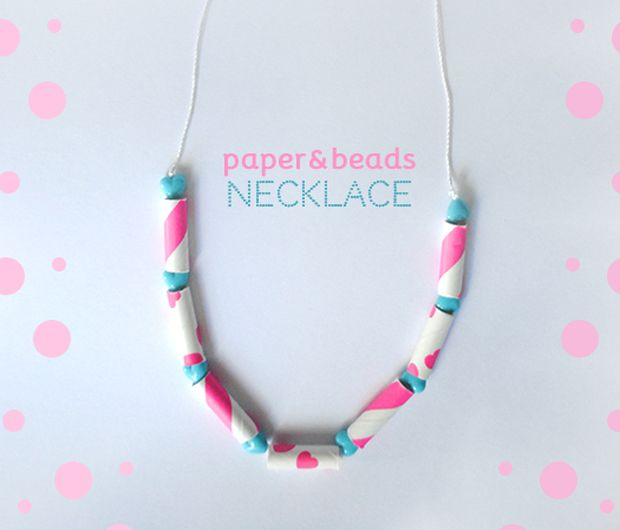 Necklaces must diy pinterest teen diy diy paper straw beads necklace via kollabora solutioingenieria Images