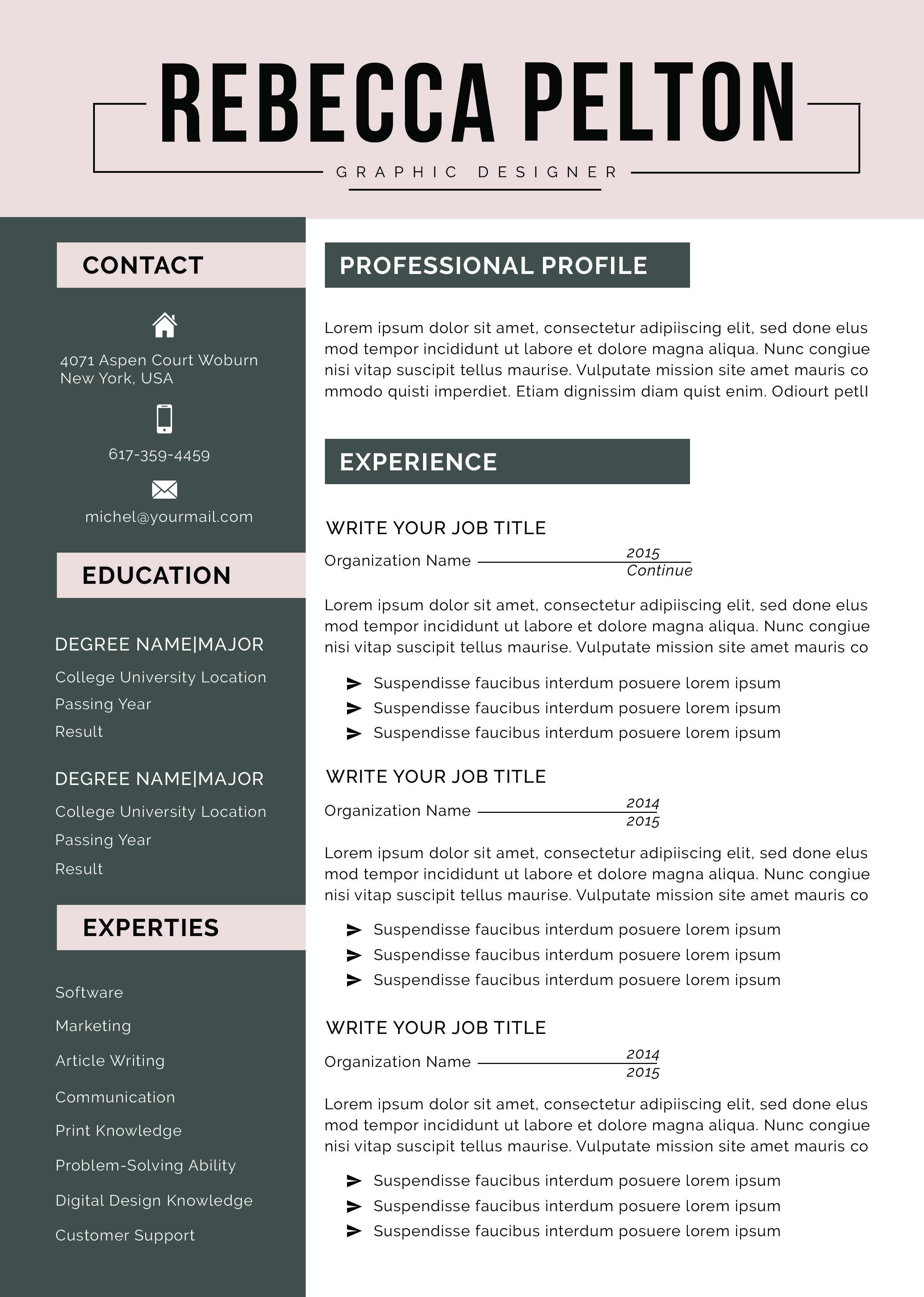 Online Resume Builder Free Canva