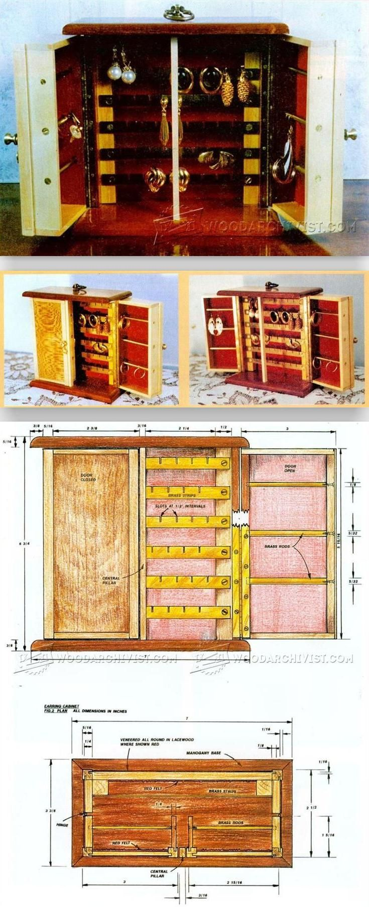 Earring Cabinet Plans Woodworking And Projects Woodarchivist