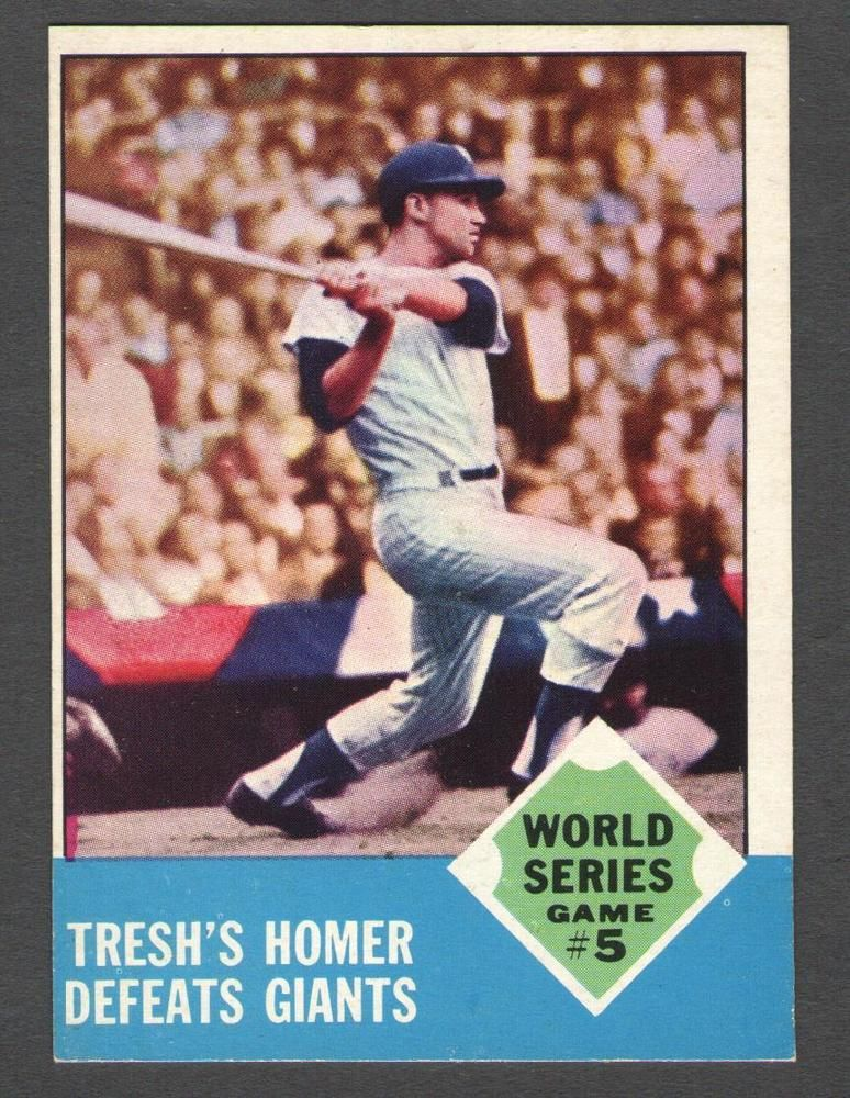 1963 Topps 146 World Series Game 5 Yankees 1963 Topps National League