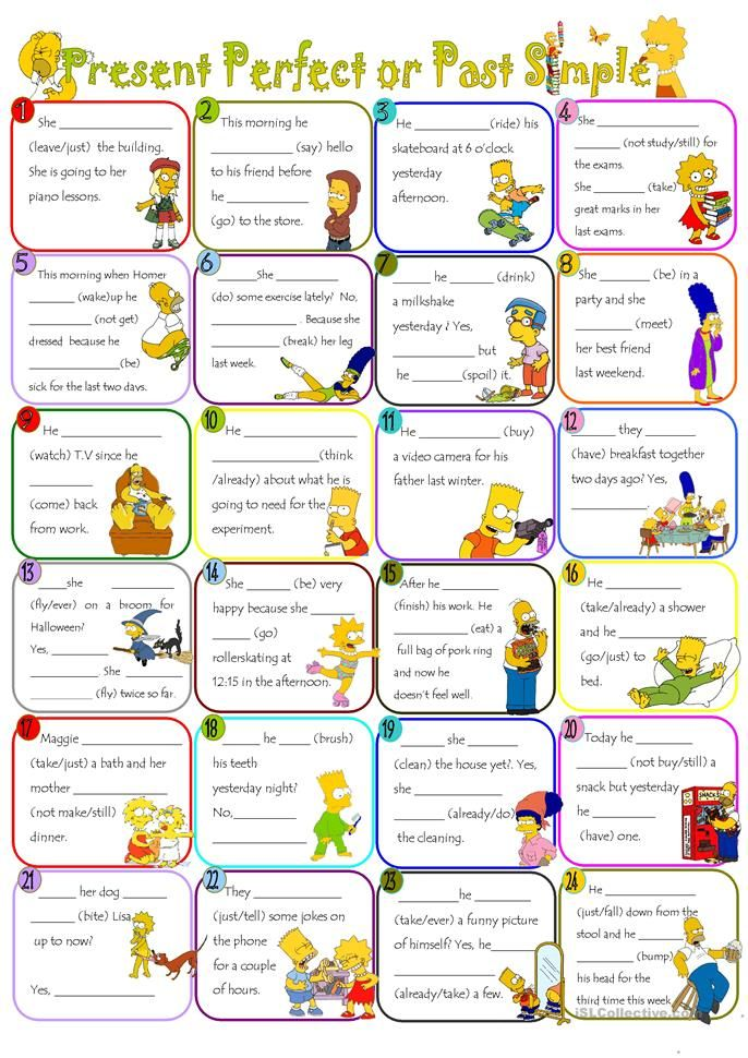 Present Perfect or Past simple | ingles | Pinterest | Englisch ...