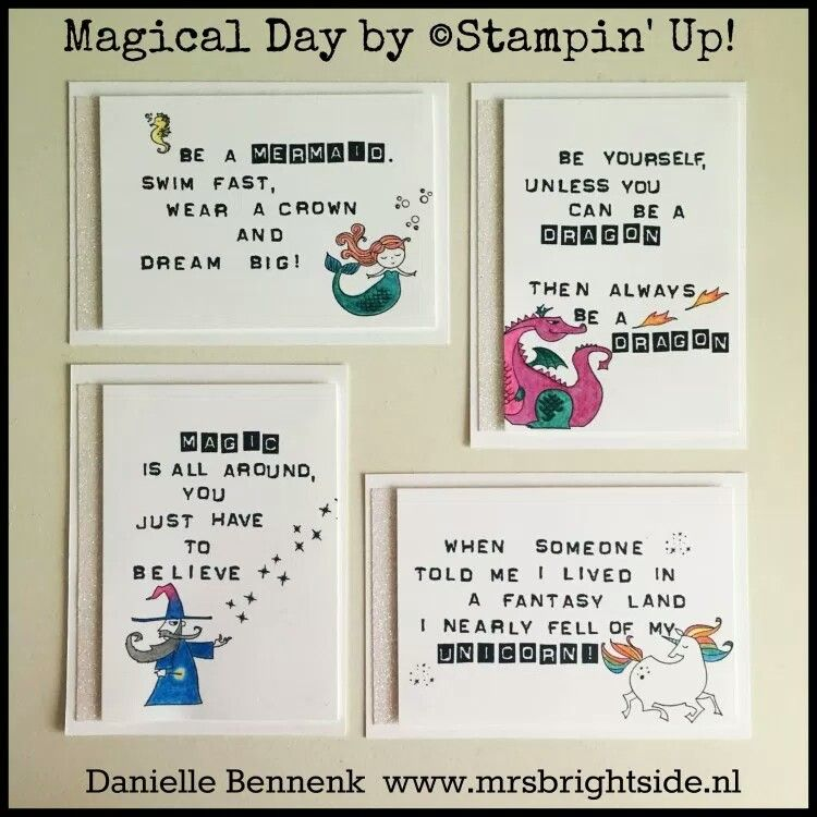 Quote Cards For On Stage Display Myths U0026 Magic Product Suite With Magical  Day Stamp Set By Stampinu0027 Up!   Danielle Bennenk Www.