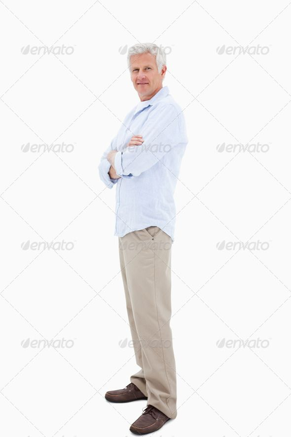 Man with the arms crossed ...  45-49 years, Caucasian appearance, One Person, arms, attractive, background, bright, businessman, calm, casual, close-up, confident, copyspace, crossed, folded, fresh, friendly, handsome, happiness, happy, isolated, joyful, leisure, life, lifestyle, light, look, mature men, modern, natural, pleasure, pose, posing, positive, relax, relaxing, retired, retirement, smart, smile, stand, standing, studio, success, successful, white
