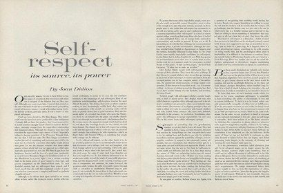 On Self-Respect: Joan Didion's 1961 Essay from the Pages of | Talks ...