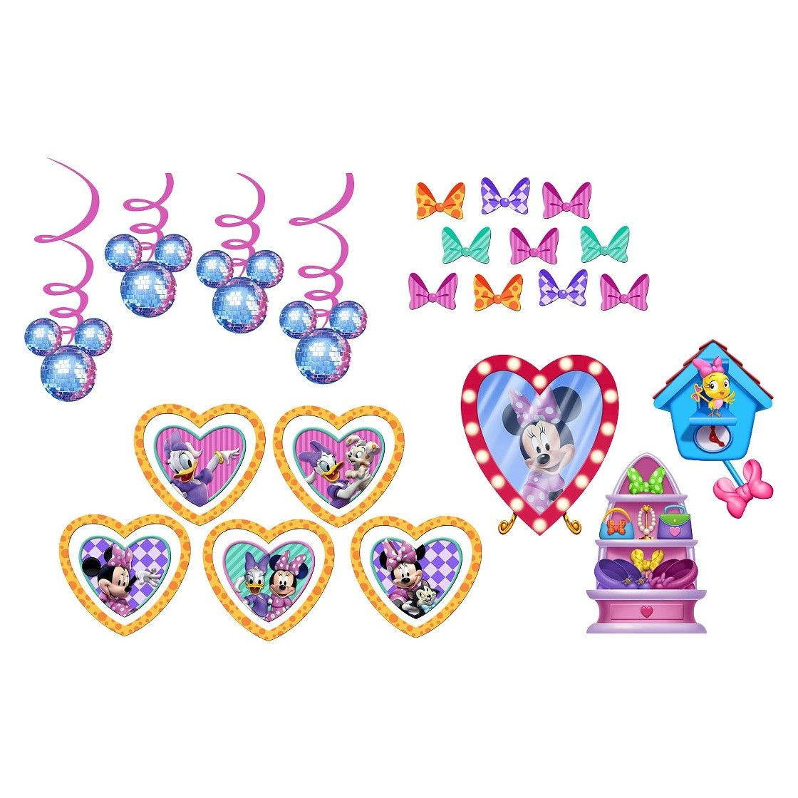 2 ct Minnie Mouse Party Decoration Kit Minnie mouse party - Minnie Mouse Halloween Decorations