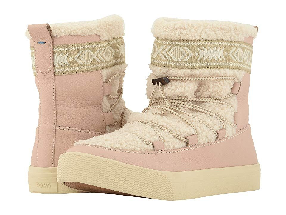 TOMS Alpine WaterResistant Boot Dark Blush LeatherFaux Shearling Womens Pullon Boots With every pair of shoes you purchase TOMS will give a new pair of shoes to a child i...