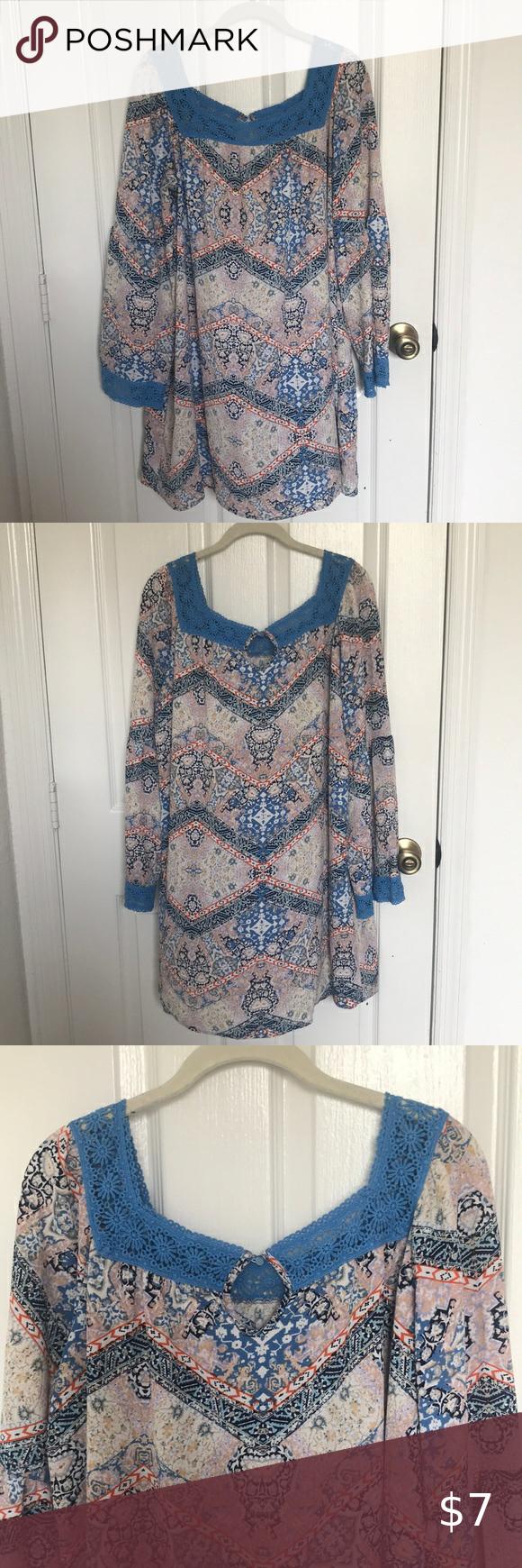 Xhilaration Target Southwestern Long Sleeve Dress Clothes Design Long Sleeve Dress Dresses [ 1740 x 580 Pixel ]