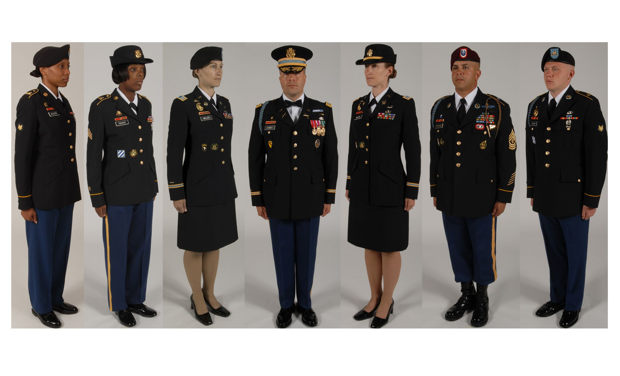 Pictures of army dress blue uniform enlisted