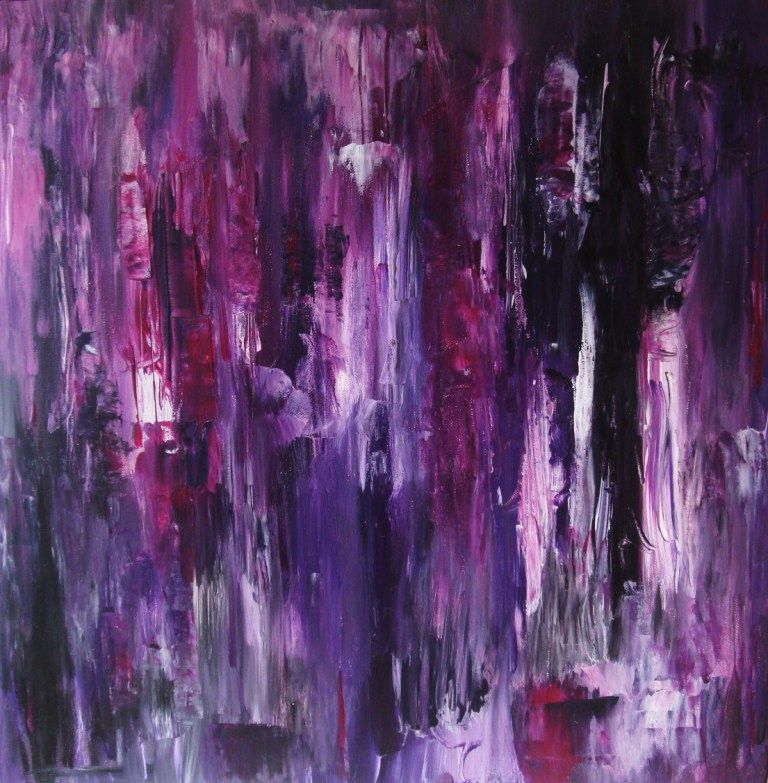 Fading Into Purple Decor In Purple Purple Painting