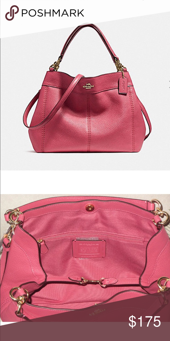 18a9256f06e6 COACH authentic Small Lexy Leather Shoulder Bag SMALL LEXY SHOULDER ...