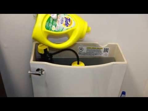Detergent in toilet