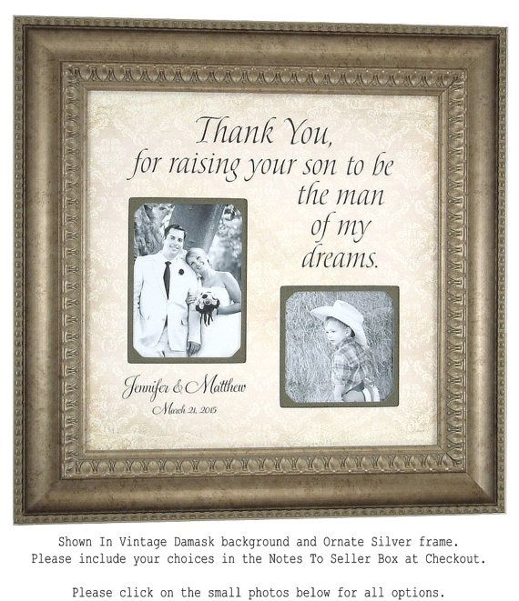 Father of the Groom, In Law, Mother of the Groom Gift, personalized ...