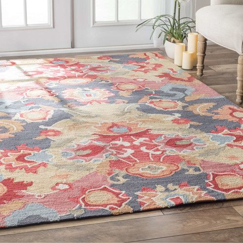 Found It At Wayfair Co Uk Pop Nina Hand Tufted Red Blue Area Rug Area Rugs Nuloom Home Decor
