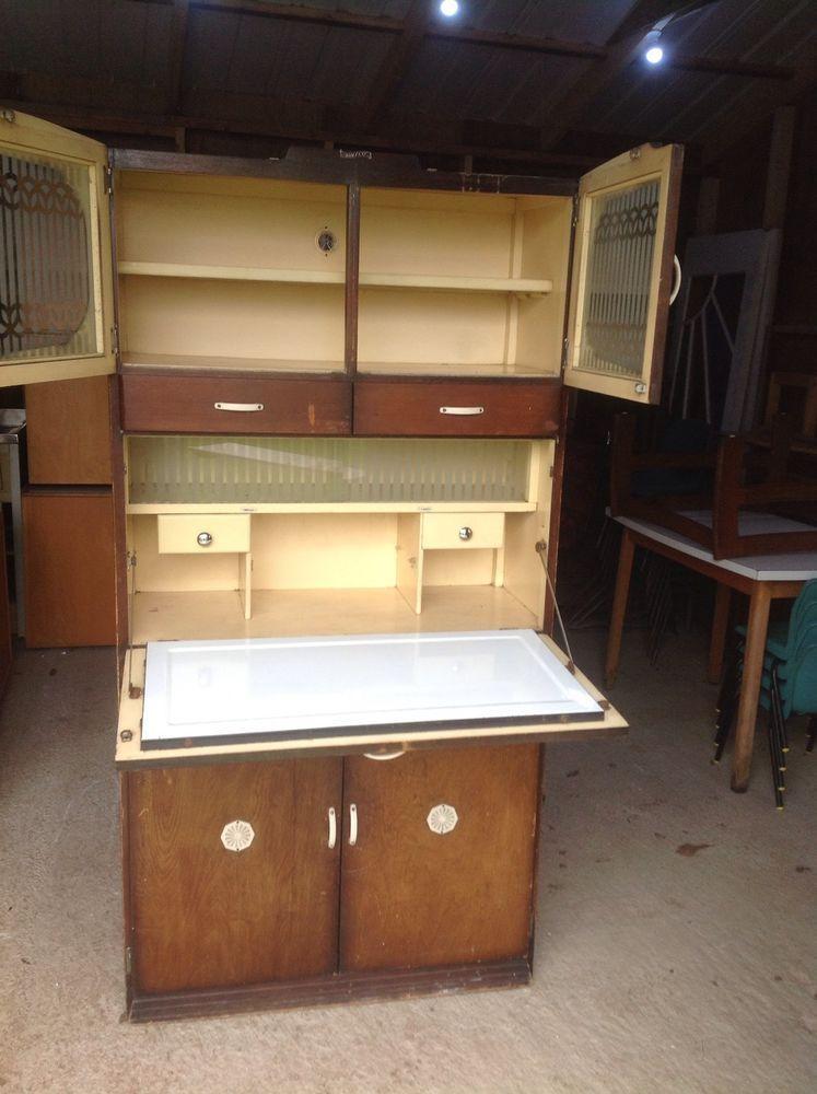 295 Nottinghamshire Vintage Kitchen Larder Unit Enamel 1930s