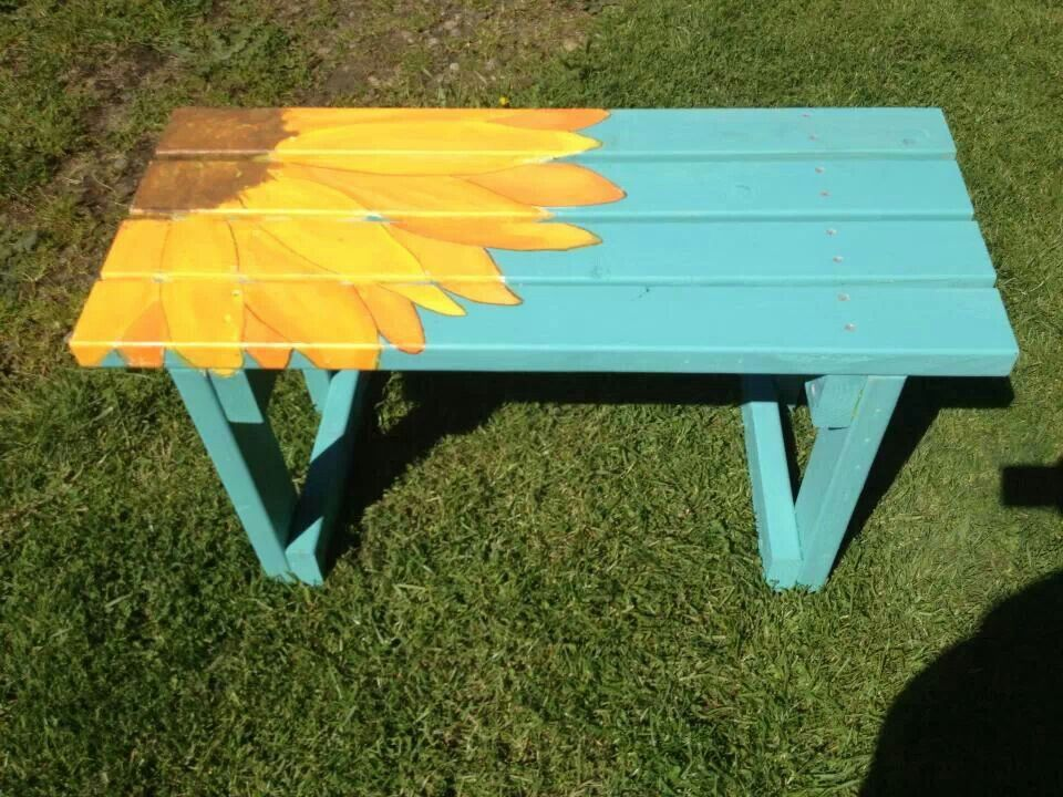 Painted Benches Ideas Part - 49: Sunflower Bench