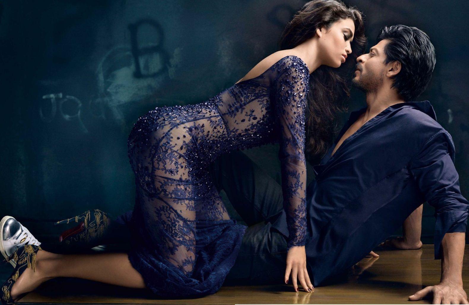 Image result for ShahRukh Khan hot Vogue Photoshoot with Victoria's Secret Supermodel Shanina Shaik