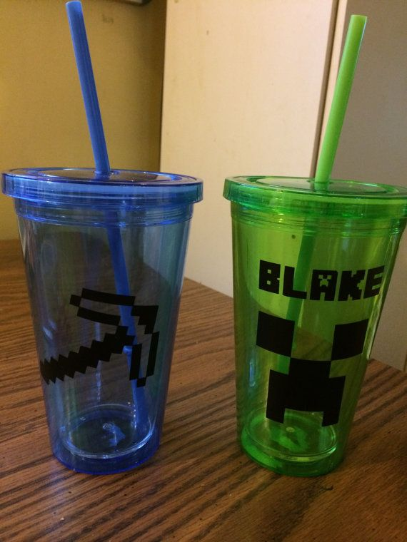 MC+Cup+with+Straw+by+FroggysPartySupplies+on+Etsy,+$8.00