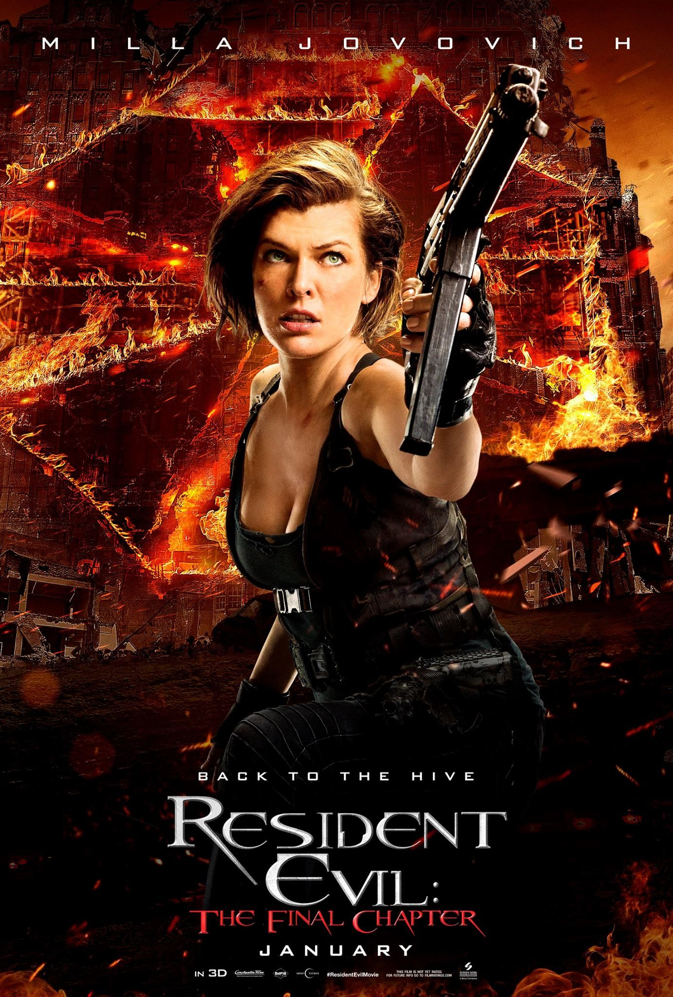 RESIDENT EVIL 27x40 movie poster M.JOVOVICH AFTERLIFE