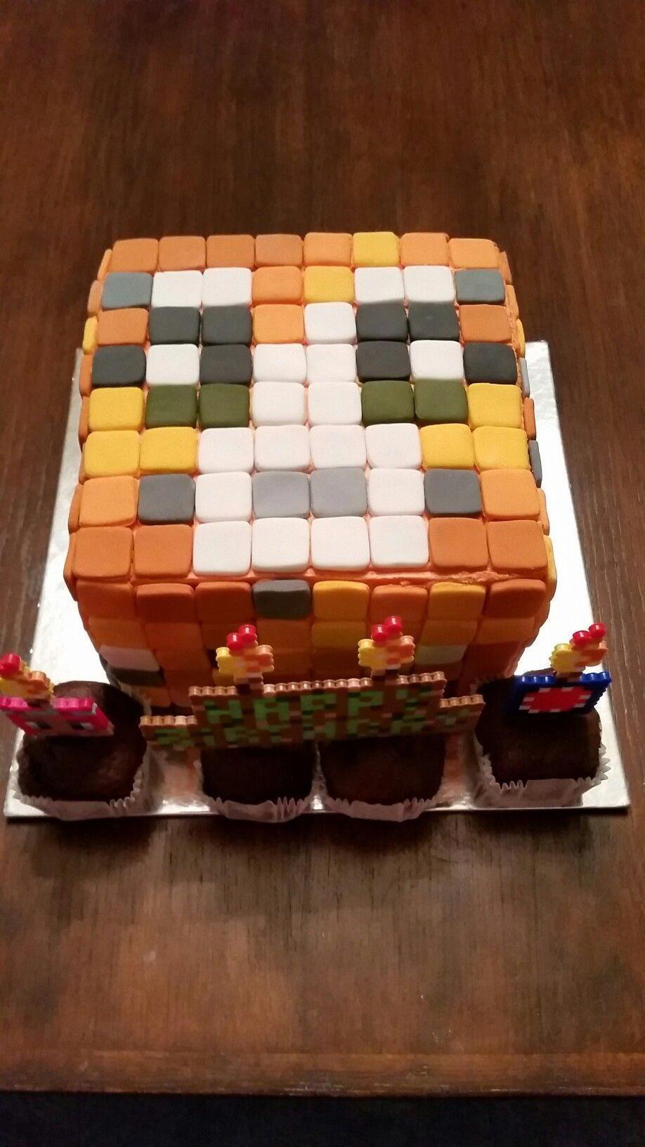 Stampy Cat Minecraft Birthday Cake Birthdaycakesforcats Serval