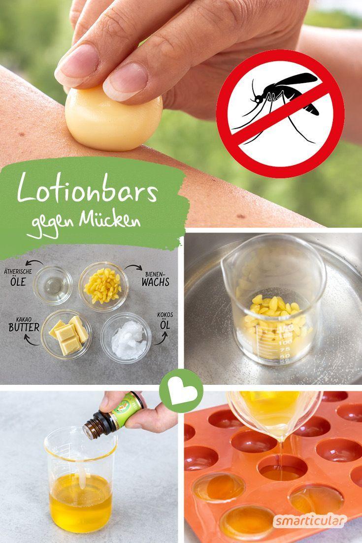 Feste Lotion-Bars mit Anti-Mücken-Wirkung kannst du einfach selber machen. Sie …