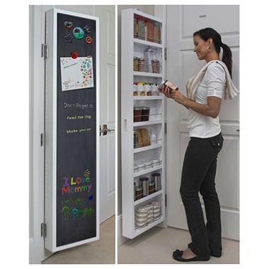 Cabidor Clic Deluxe Chalkboard Behind The Door Storage Cabinet Sam S Club