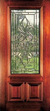 Front Doors with Glass | Beveled Glass Mahogany Doors & Windows ...