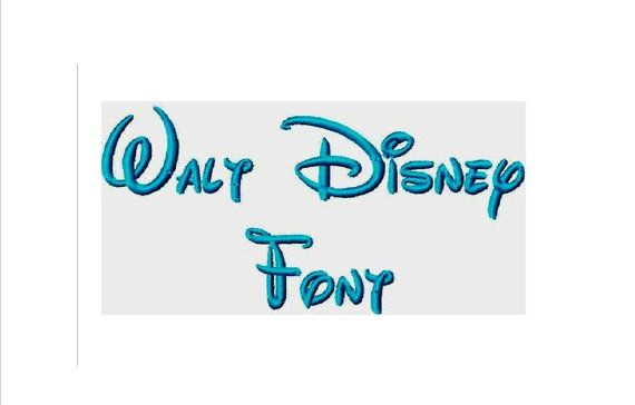 Instant Download WALT DISNEY FONT Machine Embroidery Designs