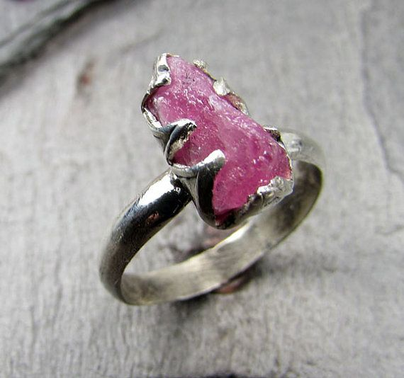 Natural Rough Raw Pink Mozambique Ruby Gemstone by byAngeline