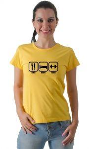 Camiseta Comer Dormir E Treinar Camiseta Casual