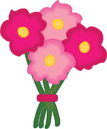 daisies bouquet graphic clip art of a color bouquet of pink and rh pinterest ca clip art flower bouquet images clipart pictures of flower bouquets