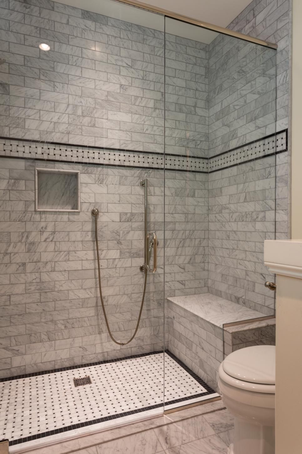 Step Into Marble Clad Luxury Entering This Large Walk In Shower