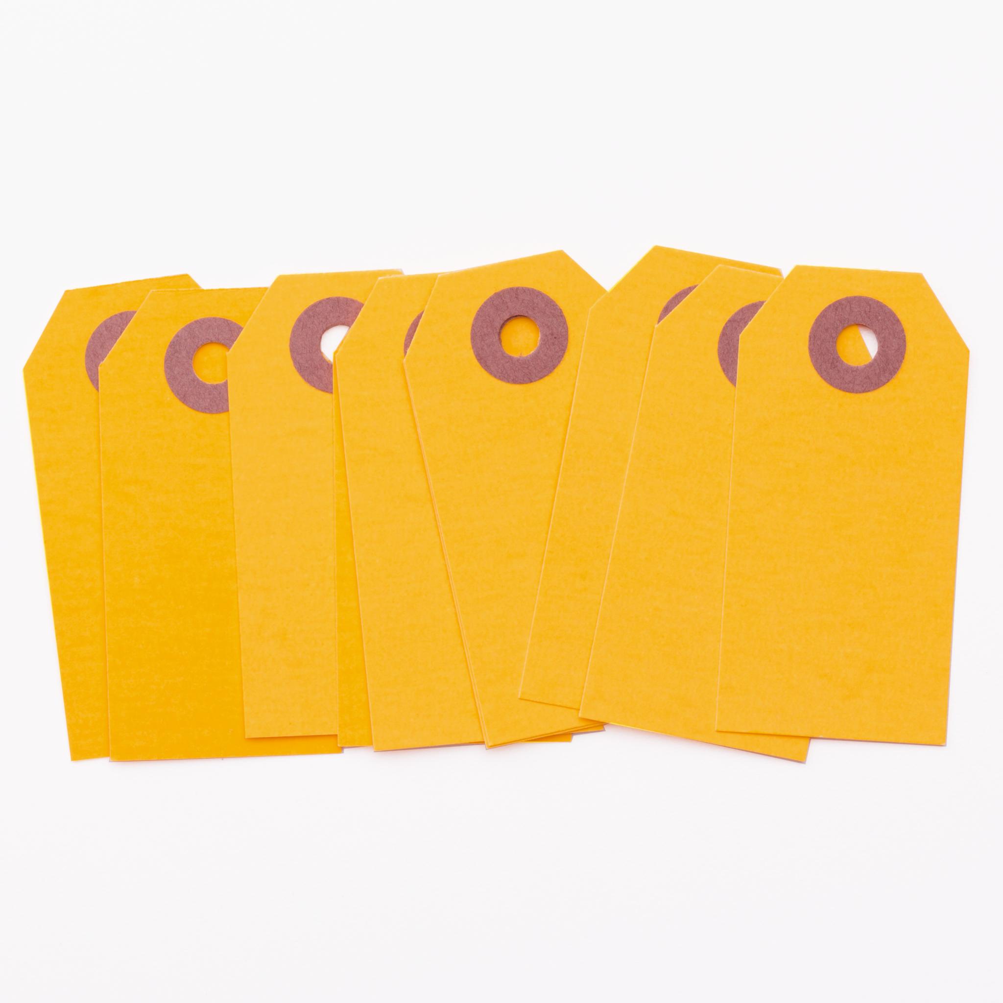 Neon Tangerine Parcel Tags