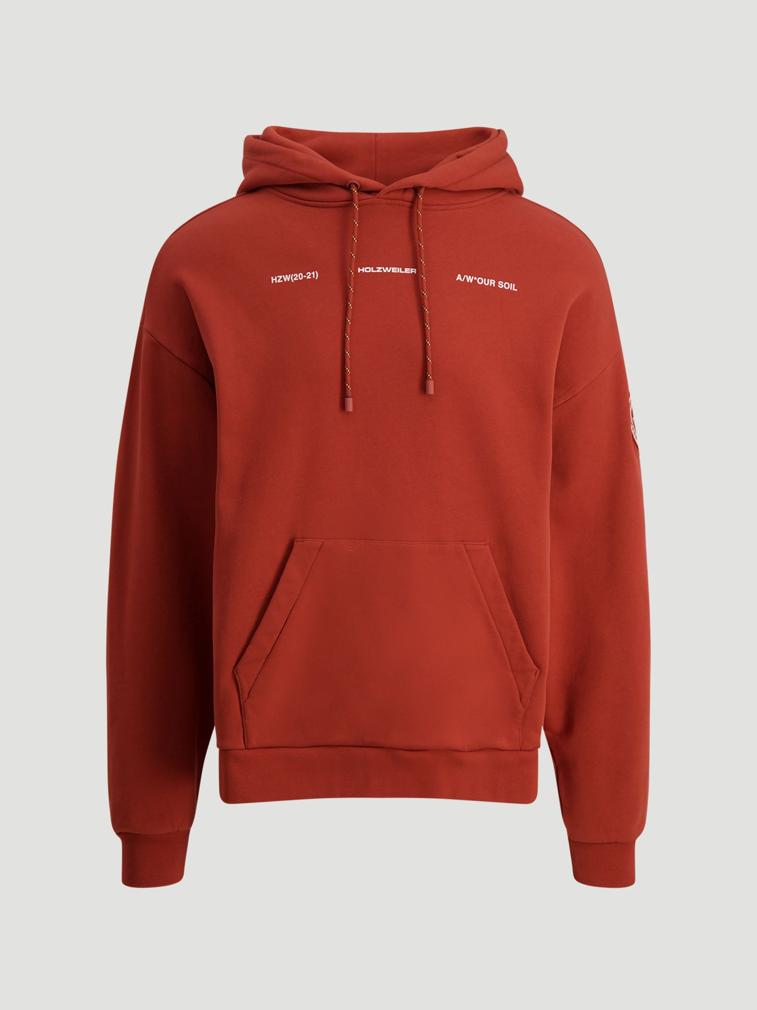 Download Holzweiler Aw20 Mens Collection Forest Hoodie Rust