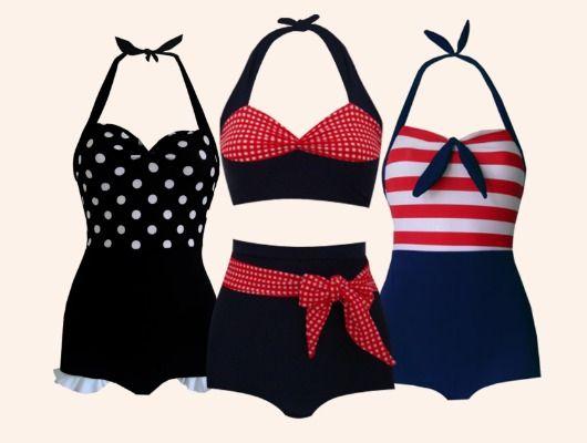b5c8bcd1d818 Pin Up | Swimsuit, Lingerie, Corset en 2019 | Trajes de baño vintage ...