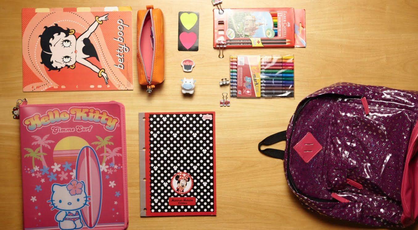 3 kits de Material Escolar Baratinhos + DIY para sua mochila - YouTube