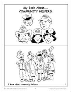 my book about community helpers mini book