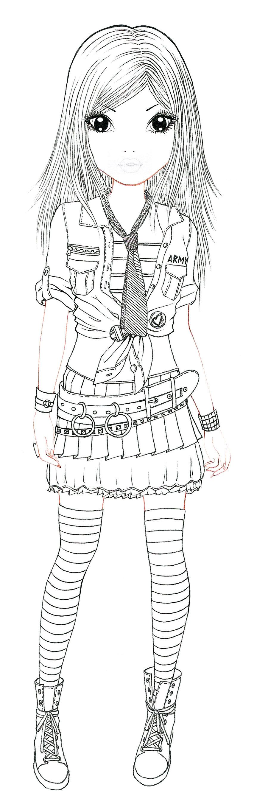 Army lineart by aya ichigo 900 2662 - Dessin top model a imprimer ...