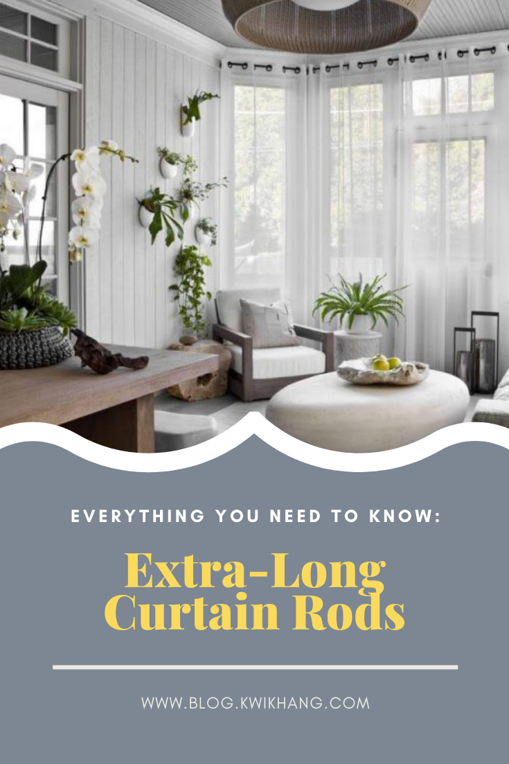 Your Guide To Extra Long Curtain Rods Long Curtains Extra Long