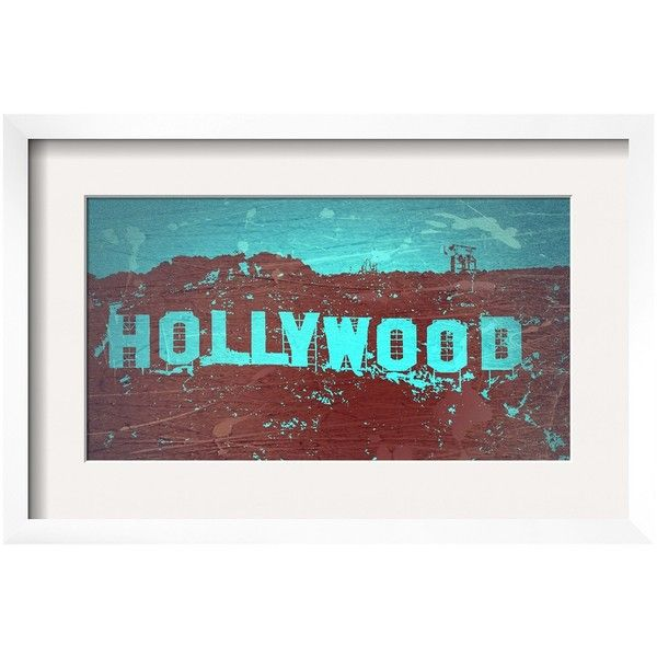 Art com hollywood sign framed poster print target ❤ liked on polyvore featuring