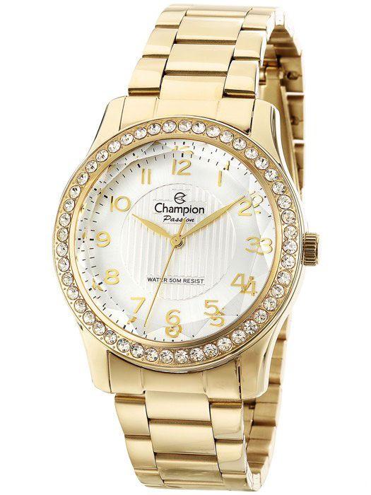 40db67697f1 Relogio Champion Crystal Feminino Dourado CN27205H