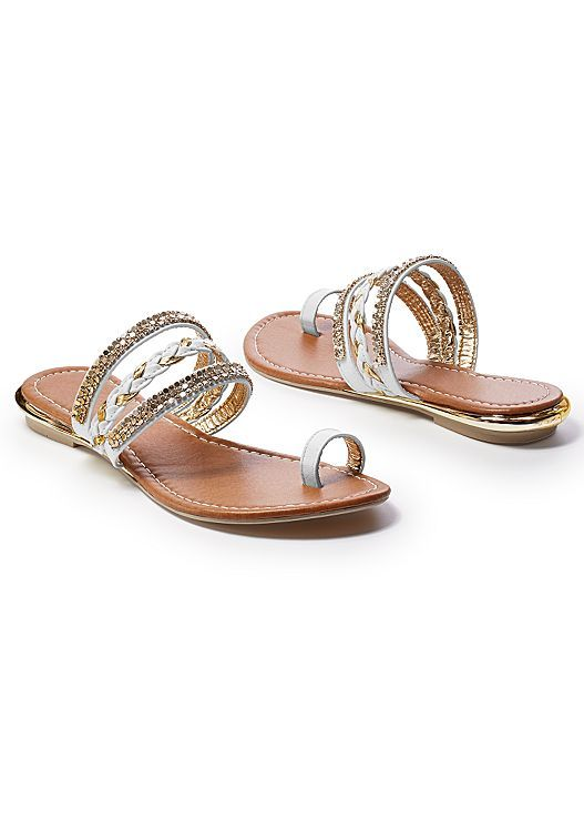 860aa9f398b59 Pin by TheLadyStranger77 on Ladies Footwear | Embellished sandals ...