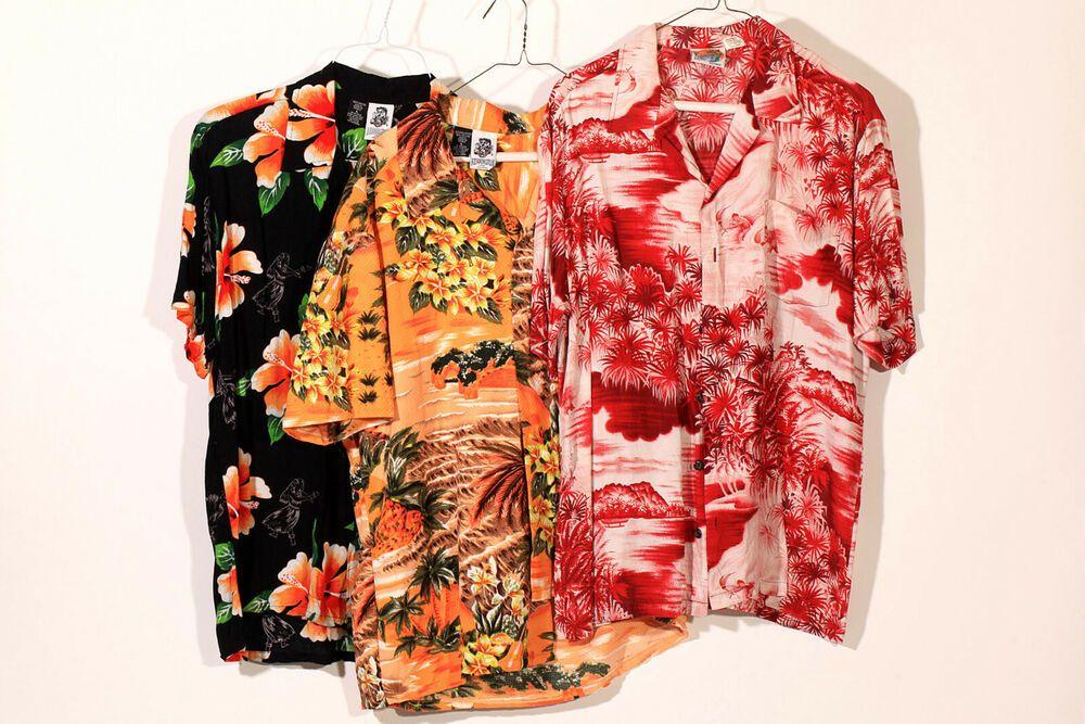 b916bdb1 ... Vintage by Kennington Ltd.. Lot 3 Vntg KENNINGTON Mens Hawaiian Shirts  Size Large L Tropical Hula Palms Tiki #Kennington