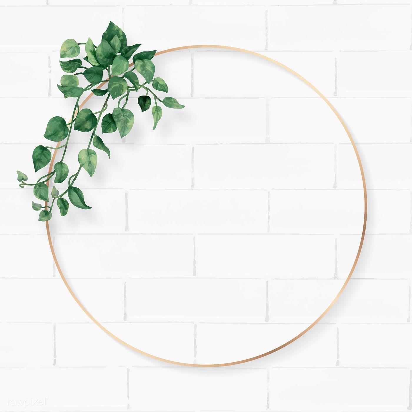 Download Premium Vector Of Blank Round Camellia Leaves Frame Vector 1208566 Flower Background Wallpaper Instagram Wallpaper Floral Poster