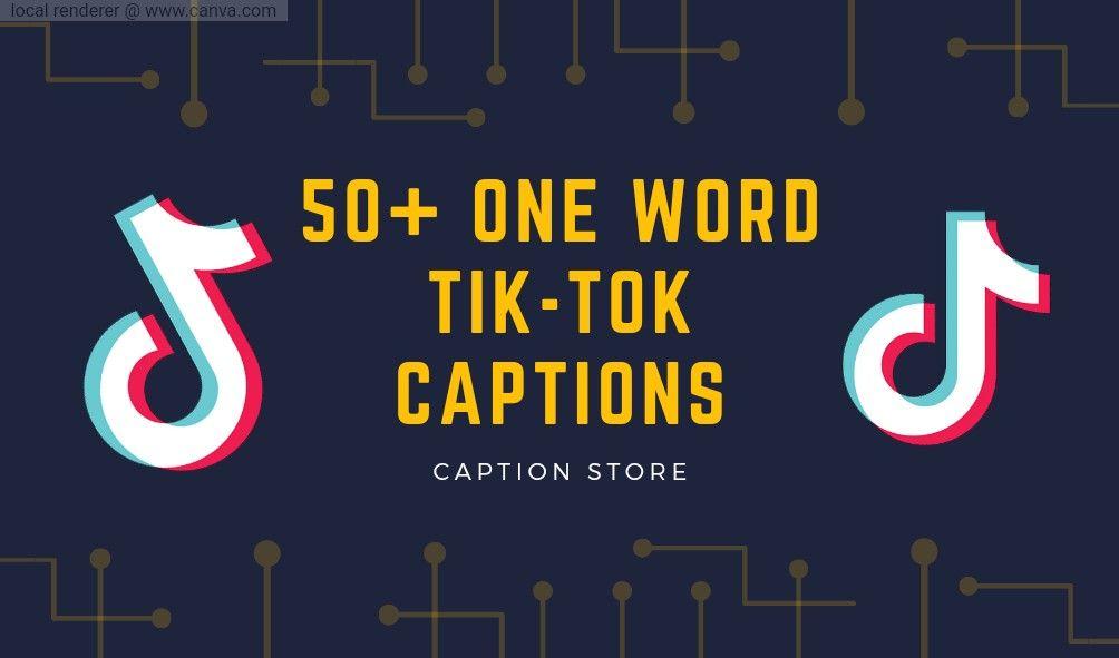 Onr Word Tik Tok Captions Ideas 2021 Good Instagram Bio Quotes Instagram Bio Quotes Caption Quotes