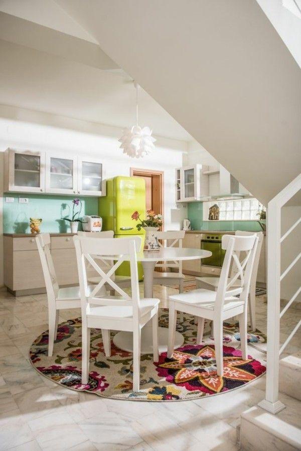 Kleines Appartement mit grünen Akzenten inspiriert für trendige - inneneinrichtung