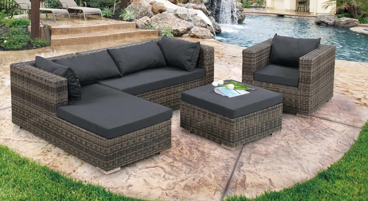 sofa set nailing next outdoor furniture design with cement patio deck and l