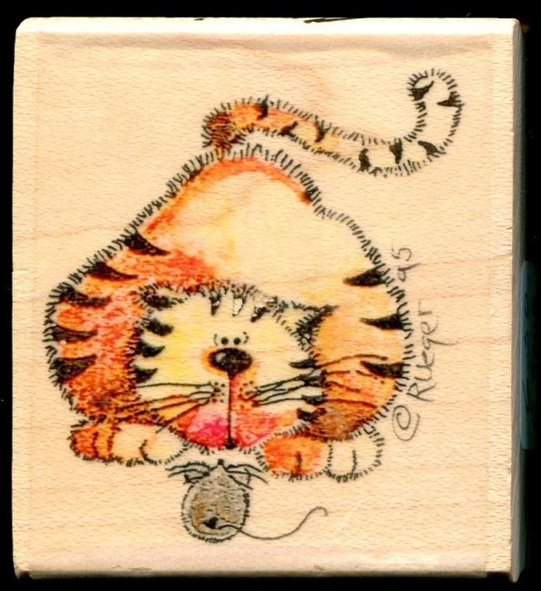Stampassions STALEMATE Cat & Mouse WM Rubber Stamp C-9010 #Stampassions